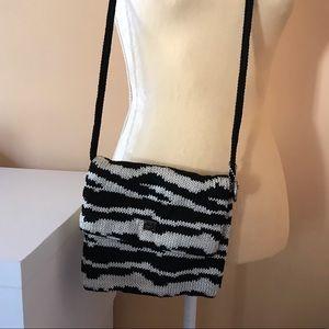 The Sak Zebra Print Crocheted Purse